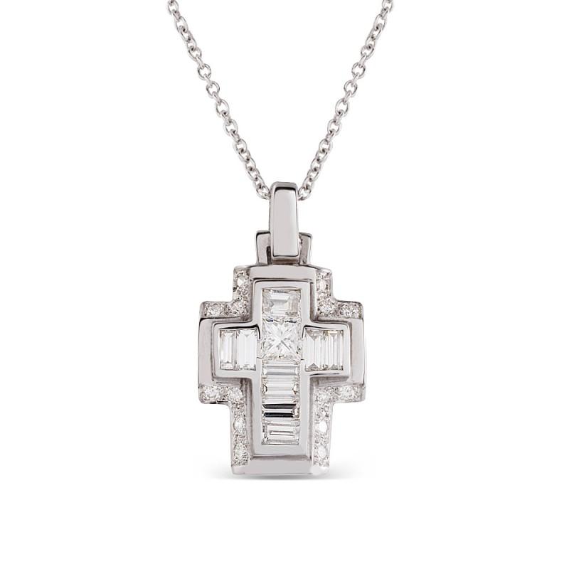 Colgante Cruz de diamantes
